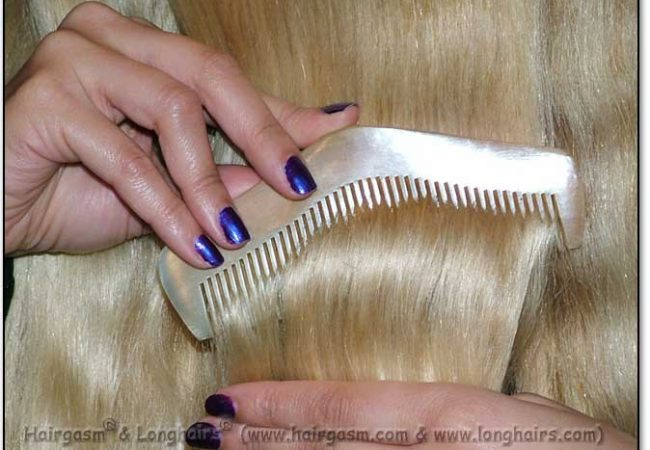 "Scritcher-Comber LONGHAIRS® HAIRGASM® Pyramids 5 .5 or 6.5"" Longhairs® Sheeps Horn CLICK MEE"