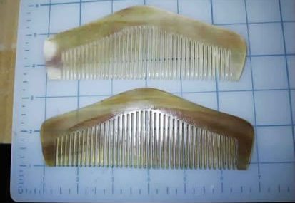 "Scritcher-Comber LONGHAIRS® HAIRGASM® Pyramids 5 .5 or 6.5"" Longhairs® Sheeps Horn  CL;ICK MEEE"