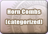 horn combs categorized