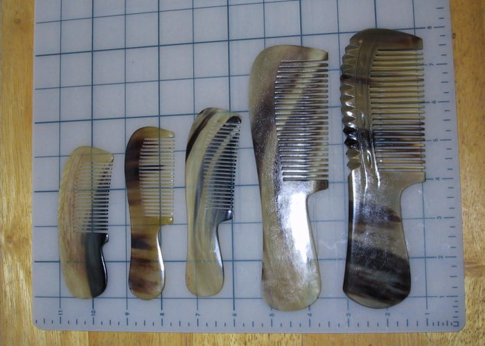 Special Designs Naturally Occurring In (our) Horn Combs Sometimes